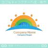 太陽、自然をイメージしたロゴマークデザインです。