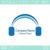 ヘッドホン、音楽のシンボルマークのロゴマークデザインです。