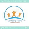 人間、力、エネルギーのシンボルマークのロゴマークデザインです。