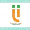 文字、スマイルがモチーフのロゴマークデザインです。