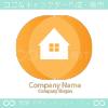 家、オレンジがモチーフのロゴマークデザインです。