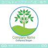 木、エコグリーンをイメージしたロゴマークデザインです。