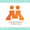 人間、M文字をイメージしたロゴマークデザインです。