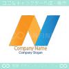 N文字、上昇をイメージしたロゴマークデザインです。