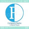 F文字、反転のシンボルマークのロゴマークデザインです。