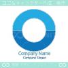 O文字、海、空のシンボルマークのロゴマークデザインです。