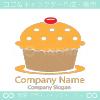 カップケーキ、かわいいがモチーフのロゴマークデザインです。