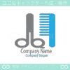 ハサミ、理髪店がモチーフのロゴマークデザインです。