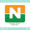 太陽、グリーン、N文字をイメージしたロゴマークデザインです。