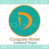 D文字、丸をイメージしたロゴマークデザインです。