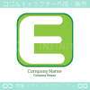 E文字、グリーンをイメージしたロゴマークデザインです。