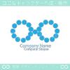 インフィニティーと水のシンボルマークのロゴマークデザインです。