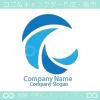 C文字と波のシンボルマークのロゴマークデザインです。