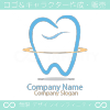 歯と太陽光がモチーフのロゴマークデザインです。