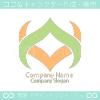 A文字とV文字がモチーフのロゴマークデザインです。