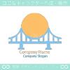 太陽と橋のシンボルマークのロゴマークデザインです。