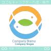 魚と自然界のシンボルマークのロゴマークデザインです。