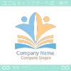 本と人のシンボルマークのロゴマークデザインです。
