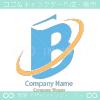 B文字と本と太陽光がモチーフのロゴマークデザインです。