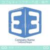 数字3とE文字のシンボルマークのロゴマークデザインです。