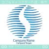 地球と風とS文字がモチーフのロゴマークデザインです。