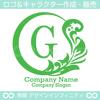 G文字,月,葉,リーフ,リース,植物の美しいロゴマークデザインです。