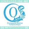 O文字,植物,月,葉,リーフ,リースの美しいロゴマークデザインです。