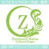 Z文字,植物,月,葉,リーフ,リースの美しいロゴマークデザインです。