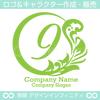 9,数字,植物,月,葉,リーフ,リースの美しいロゴマークデザインです。