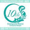 10周年記念,数字,植物,月,葉の美しいロゴマークデザインです。