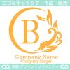 アルファベット,B文字,太陽,葉,波のロゴマークデザインです。