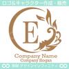 E文字,太陽,波,葉,リーフ,自然の美しいロゴマークデザインです。
