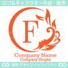 アルファベット,F文字,太陽,葉,波のロゴマークデザインです。