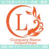 アルファベット,L文字,太陽,葉,波のロゴマークデザインです。
