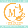 M文字,太陽,波,葉,ス,自然の美しいロゴマークデザインです。