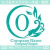 O文字,太陽,波,葉,リーフ,自然の美しいロゴマークデザインです。