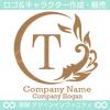アルファベット,T,太陽,葉,波のロゴマークデザインです。