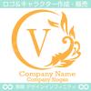 アルファベット,V文字,太陽,葉,波のロゴマークデザインです。