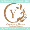 Y文字,太陽,波,葉,リーフ,自然の美しいロゴマークデザインです。