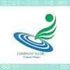 水,波紋,宇宙,翼,地球をモチーフにしたロゴマークデザインです。
