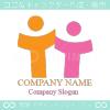 親子,アルファベットT,仲良しをイメージしたロゴマークデザインです。