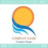 太陽,風,サン,ウインドウをイメージしたロゴマークデザインです。