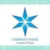 光の輝き,星,青,ブルースターをイメージしたロゴマークデザイン