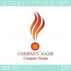 火炎,炎,風,上昇をイメージしたロゴマークデザインです。