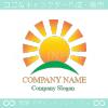 太陽,丘,太陽光,自然をイメージしたロゴマークデザインです。