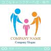 家族,ファミリー,人間,協力をイメージしたロゴマークデザインです。