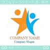 人間,星,協力,結びつきをイメージしたロゴマークデザインです。