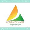 太陽,山,三角,矢,上昇,自然のロゴマークデザインです。