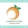 オレンジ,太陽,リーフ,みかんのロゴマークデザインです。