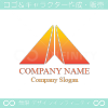 折り紙,山,M文字,上昇をイメージしたロゴマークデザインです。
